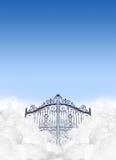 在云彩的天堂门 库存图片