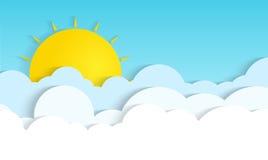 在云彩的太阳 图库摄影