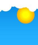 在云彩的太阳 免版税库存照片