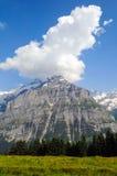 在云彩的山,瑞士 免版税图库摄影