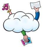 在云彩的挽救文件 免版税库存图片