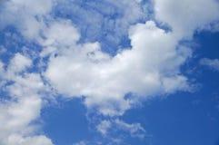 在云彩的爱 库存照片