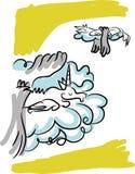 在云彩的独角兽 库存图片
