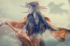 在云彩的神仙的跳舞 库存照片