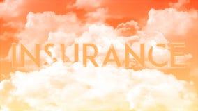 在云彩的词保险,橙色天空颜色 皇族释放例证