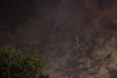 在云彩的银河 免版税库存照片