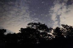在云彩的银河 库存图片