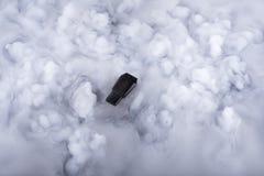 在云彩的闪存棍子 库存照片