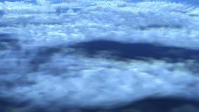 在云彩的飞行 库存例证