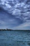 在云彩美妙的海洋之上 免版税库存图片