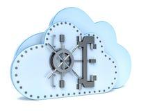 在云彩计算的数据保密概念 向量例证