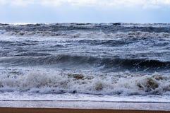 在云彩附近的海风暴 免版税库存图片