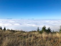 在云彩风景上 库存照片