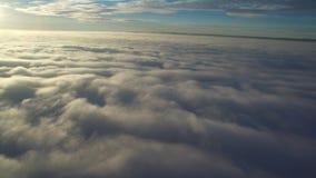 在云彩飞行之上 影视素材