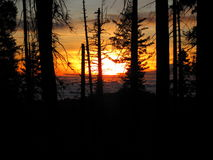在云彩2上的日落 库存图片