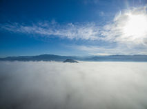 在云彩01的天空 免版税库存图片