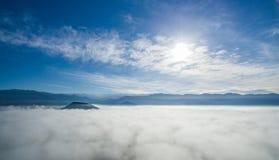 在云彩03的天空 库存照片