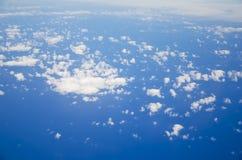 在云彩 库存照片
