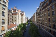 在云香de利昂的城市街道 免版税库存图片