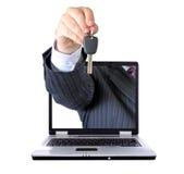 在互联网上的汽车贷款 库存照片