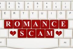 在互联网上的约会诈欺 库存照片
