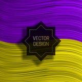 在五颜六色的动态背景的八针对性的框架 时髦成套设计或盖子模板 库存例证