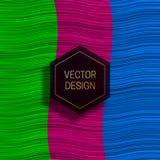 在五颜六色的动态背景的六角框架 时髦成套设计或盖子模板 库存例证