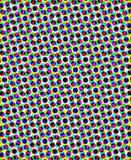 在五颜六色的圈子形状的抽象背景 库存图片