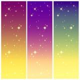 在五颜六色的天空的星光 免版税库存照片