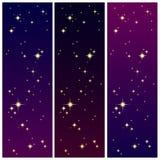 在五颜六色的天空的星光 库存图片