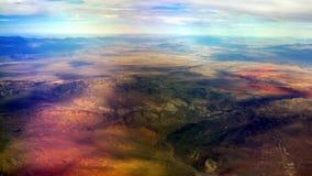 在五颜六色的沙漠, 4K的30,000英尺 股票录像