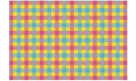 在五颜六色的背景seamles的紫红色的蓝色检查织品纹理 库存例证