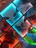 在五颜六色的舞池上 免版税库存照片