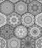 在五颜六色的花卉补缀品样式的样式  库存例证