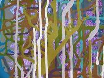在五颜六色的backgr帆布的抽象派丙烯酸酯的颜色绘画  库存照片