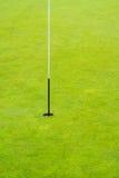 在井被修剪的绿色的高尔夫球别针 库存图片