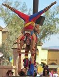 在亚利桑那新生节日的一个杂技演员马戏团 免版税库存照片