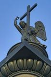 在亚历山大专栏上面的天使 库存图片