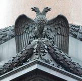 在亚历山大专栏的垫座的浅浮雕 免版税图库摄影
