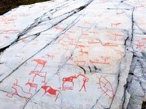 在亚尔他,挪威的岩石绘画 免版税库存图片