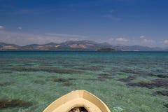 在亚得里亚海的老小船 克罗地亚 库存照片