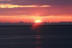 在亚得里亚的日落 库存照片