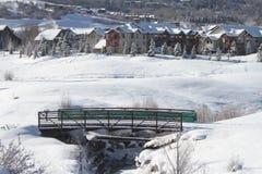 在亚斯本的冬天 图库摄影
