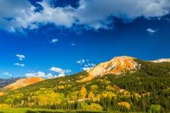 在亚斯本,碲化物,科罗拉多的美好的山风景 图库摄影
