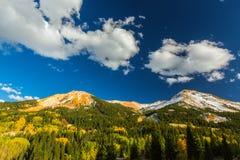 在亚斯本,碲化物,科罗拉多的美好的山风景 库存图片