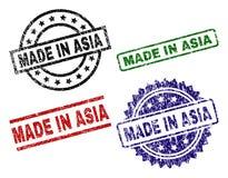 在亚洲封印邮票做的损坏的织地不很细 库存例证