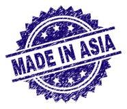 在亚洲邮票封印做的被抓的织地不很细 向量例证