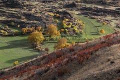 在亚美尼亚的山的秋天 库存图片
