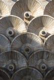 在亚美尼亚耶烈万小瀑布的抽象建筑样式 库存图片
