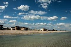 在亚速号海的村庄 免版税库存照片